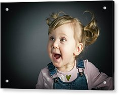 Happy Little Child Acrylic Print by Gualtiero Boffi