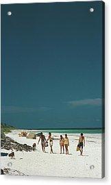 Harbour Isle Beach Acrylic Print by Slim Aarons
