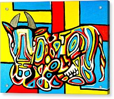 Haring's Cow Acrylic Print