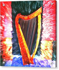 Harp Acrylic Print by Claire Rydell