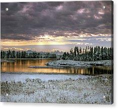 Harriman Winter Acrylic Print by Leland D Howard