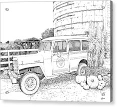 Harvest At Magnolia - Ink Acrylic Print