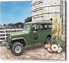Harvest At Magnolia Acrylic Print