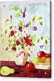 Harvest Time-still Life Painting By V.kelly Acrylic Print
