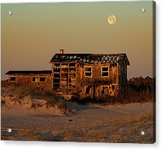 Clements House With Full Moon Behind Acrylic Print