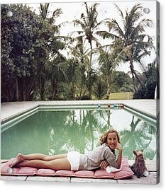 Having A Topping Time Acrylic Print by Slim Aarons