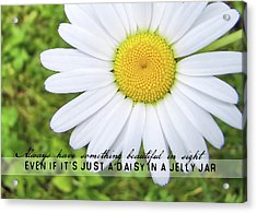 He Loves Me Quote Acrylic Print
