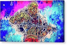Acrylic Print featuring the mixed media He - Man by Al Matra