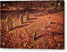 Headstones And Footstones Forgotten Acrylic Print