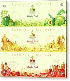 Healthy Organic Food Banners Acrylic Print by O-che