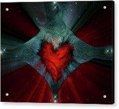 Heart And Stars Acrylic Print