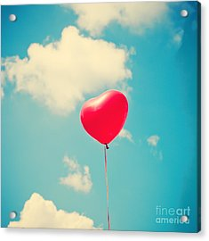 Heart Balloon Acrylic Print by Andrekart Photography