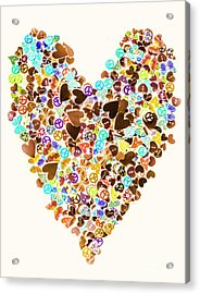 Heart Of A Hippie Acrylic Print
