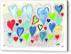Hearts 1002 Acrylic Print