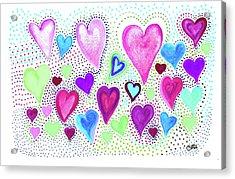 Hearts 1004 Acrylic Print