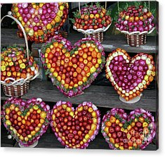 Acrylic Print featuring the photograph Hearts Of Flowers by PJ Boylan