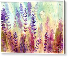 Heathers In Haze Acrylic Print