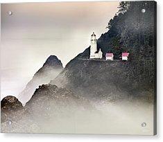 Heceta Head Lighthouse Acrylic Print by Leland D Howard