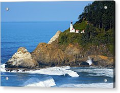 Acrylic Print featuring the photograph Heceta Head Lighthouse1107 by Rospotte Photography
