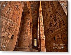 Heiroglyphs At Medinat Habu. Luxor Acrylic Print