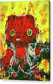 Acrylic Print featuring the mixed media Hellboy by Al Matra