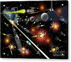 Hell In Space Acrylic Print