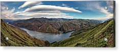 Hells Canyon Panoramic Acrylic Print by Leland D Howard