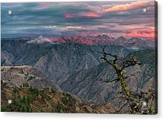 Hells Canyon Sunset 2 Acrylic Print by Leland D Howard