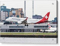 Helvetic Airways Embraer 190 Acrylic Print