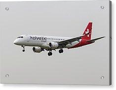 Helvetic Airways Embraer 190 Landing Acrylic Print