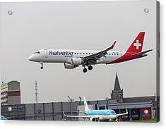 Helvetic Airways Embraer Erj-190lr Acrylic Print