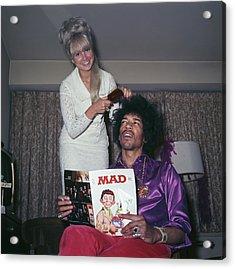 Hendrix Hair Acrylic Print by Rolls Press/popperfoto