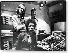 Hendrix, Kramer, & Marron At Electric Acrylic Print by Fred W. McDarrah