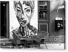 Hepburn Mural On Mulberry Street New York City Acrylic Print