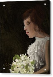 Acrylic Print featuring the painting Her Big Day by Fe Jones