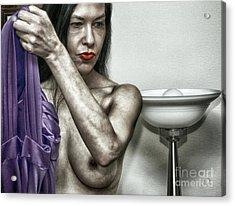 Her Dressing Room  Acrylic Print by ManDig Studios