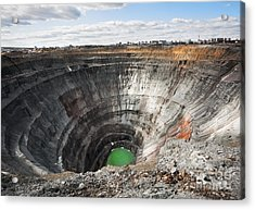 Here Diamonds Were Extracted. The Mir Acrylic Print