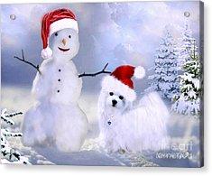 Hermes And Snowman Acrylic Print
