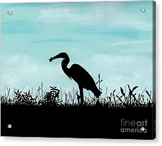 Heron Has Supper Acrylic Print