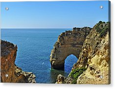Hidden Arch In Marinha Beach Acrylic Print