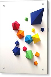 High Angle View Of Multi Colored Paper Acrylic Print by Gunther Kleinert / Eyeem