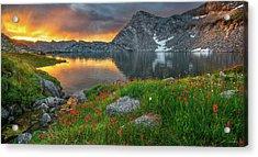 High Mountain Morning In Idaho Acrylic Print by Leland D Howard