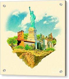 High Resolution Watercolor Illustration Acrylic Print