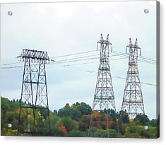 High-voltage Power Transmission Towers  2 Acrylic Print