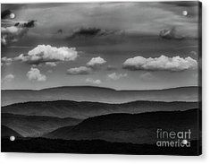 Highland Clouds And Ridges  Acrylic Print