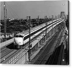 Hikari Train Acrylic Print by Three Lions