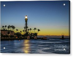 Acrylic Print featuring the photograph Hillsboro Light Reflection by Tom Claud