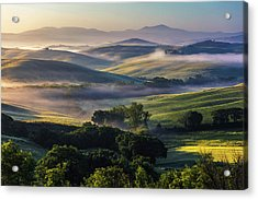 Hilly Tuscany Valley Acrylic Print