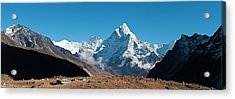 Himalaya Snow Summits Remote Mountain Acrylic Print by Fotovoyager