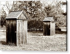 His And Hers Vintage Outhouses Pine Barrens Acrylic Print